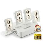 Комплект IP видеонаблюдения FullHD 1080p (NOVICAM) для квартиры с 4 беспроводными камерами со звуком